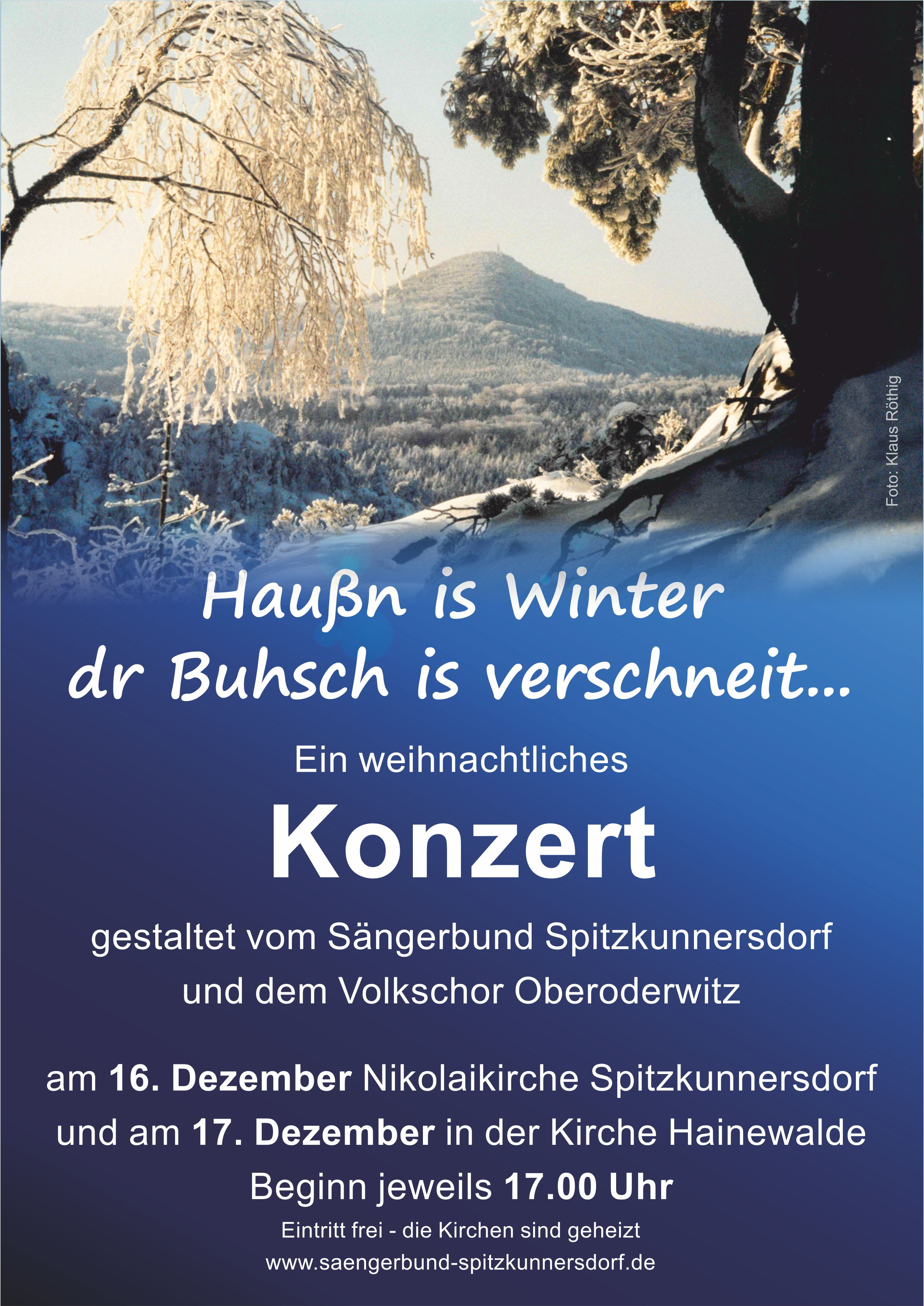 Plakat Adventskonzert 2017